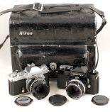 Lot 30 - Nikkormat Film Camera Outfit.