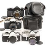 Lot 14 - Nikkormat Film Cameras Collection.