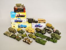 Quantity of assorted diecast models: four boxed Corgi Classics; boxed Atlas fire engine;