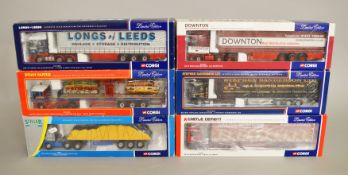 Six Corgi 1:50 scale diecast models, including CC11910, CC13202, CC11902, CC13211,