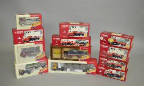 12 x Corgi Road Transport Heritage and British Railways diecast models,
