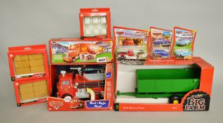 A mixed lot of Britains and Disney Pixar Cars diecast models: Britains Big Farm Bulk Tipping