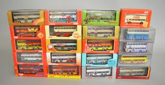 20 x Corgi Original Omnibus Company and Britbus diecast model buses, mostly Chinese buses.