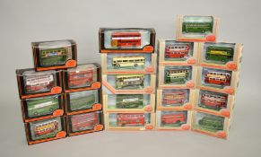 21 x 1:76 scale EFE diecast model buses. Boxed and VG.