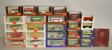 25 x EFE diecast models, including cars, trucks and buses. Boxed and VG.