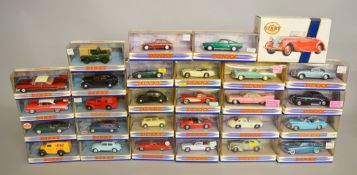 28 x Matchbox Dinky diecast model cars. Boxed and overall appear VG/E.
