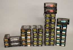 48 x Onyx Formula 1 1:43 scale diecast model cars. Boxed, overall appear VG.