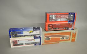 Five Corgi 1:50 scale diecast models: CC12609; 75801; 75805; CC12419; US51401. Boxed and VG.