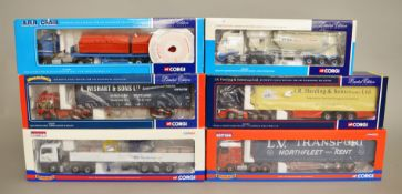 Six Corgi 1:50 scale diecast models,