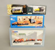 Four Corgi diecast models: Heavy Haulage 1:50 scale 31009 Wynns;