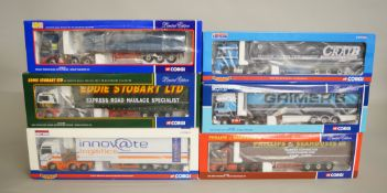 Six Corgi 1:50 scale diecast models.