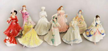 10 Royal Doulton ladies: HN2379, HN4622, HN2706, HN3234, HN2792, HN3365, HN3975, HN3369, HN3208.