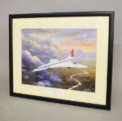 "Price, Barry, ""Delta Golf"" print, 29cm x 39cm, framed and glazed."