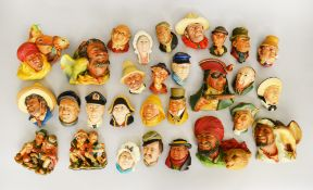 29 assorted Bosson's heads wall plaques.