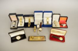 12 assorted wrist watches including Citizen, Rotary and Seiko.
