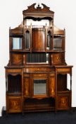 A superb Edwardian Rosewood Chiffoniere with Satinwood inlays. Width 138cm.