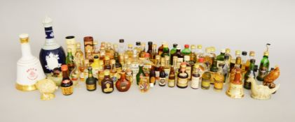 Good collection of alcoholic miniatures.