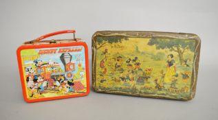 J. Schuybroek (Belgium) 'Disneyland' biscuit tin, c. 1930s. Tin measures 32 x 20 x 7 cm approx.