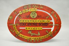 "An Edwardian ""Educational Board"" for children. ""Patented Oct. 15, 1912. Patented April 20, 1915""."