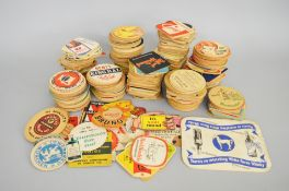 Collection of beer mats ranging from 1940's to 1960's.