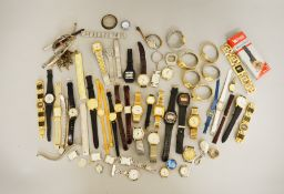 Large collection of assorted wrist watches for spares/repair.