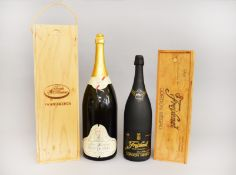 Two large bottles of Champagne / Sparkling Wine: A Mathusalem (Imperial,