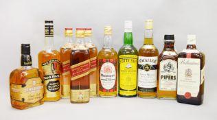 10 bottles of vintage whisky: 3x Johnnie Walker Red Label plus 1 bottle each of Tamnavulin,