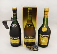 Two bottles of Cognac / Brandy: Remy Martin VSOP Fine Champagne Cognac with gift box (purchased