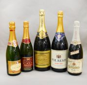 5 assorted bottles of Champagne / Sparkling Wine including a Magnum of Gabriel Boutet and a Magnum