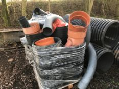QTY OF ASSORTED DRAINAGE PIPES AND FITTINGS