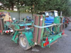 Set of Ransomes PTO driven gang mowers