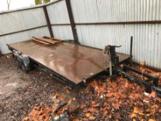 Twin axled HD trailer, 17ft bed approx.
