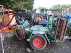 Towed PTO driven gang mower set