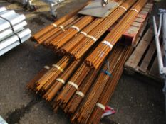 QTY OF REINFORCING BARS, 2.7 AND 3.2METRES LENGTH APPROX