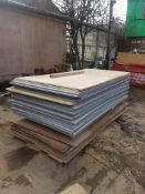50no approx assorted pre used timber boards