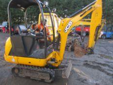 JCB 801-4 mini digger, yr2014, c/w bucket,