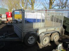 IFOR WILLIAMS GD85G TRAILER WITH MESH SIDES