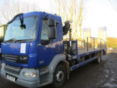 DAF LF55.180 BEAVERTAIL PLANT LORRY WITH HIAB XS 3 STAGE CRANE