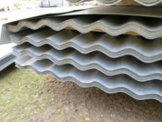 100NO 10FT X 0.8METRE WIDE CORRUGATED GALVANISED ROOFING SHEETS