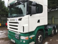 Scania R470 6x2 tractor unit, mid lift axle, sleeper cab
