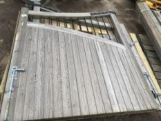"""PAIR OF CATHEDRAL COURTYARD GATES C/W POSTS 1.8M MAX HEIGHT TO SUIT 10FT6"""" OPENING APPROX"""