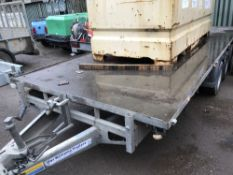 IFOR WILLIAMS 186G3 TRIAXLED PLANT TRAILER C/W RAMPS YEAR 2014 SN:SCKT00000E5107302100