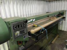 CMC CL250 board sanding unit c/w sliding feed table NO VAT ON HAMMER PRICE