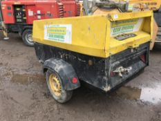 ATLAS COPCO XAS 67 COMPRESSOR YEAR 2005 PN: 4145FC WHEN TESTED WAS SEEN TO RUN AND MAKE AIR