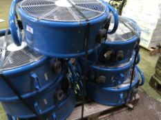 7 X CLARKE AIR FANS, LITTLE SIGN OF USEAGE, SOURCED FROM COMPANY LIQUIDATION, 240 VOLT