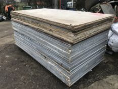 50NO APPROX 8x4 pre used timber sheets 18mm