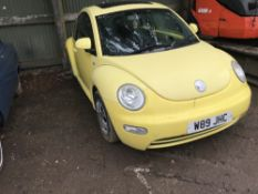 VOLKSWAGEN BEETLE W59 JHC WHEN TESTED WAS SEEN TO DRIVE, STEER AND BRAKE. WITH V5...MOT EXPIRED