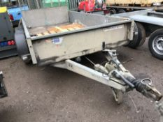 Ifor Williams GD105 10ft plant trailer c/w drop tail board, yr2007 SN;SCK60000070517895
