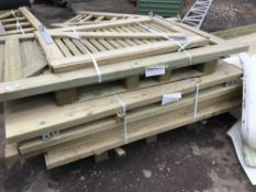 8NO ASSORTED WOODEN SIDE GATES