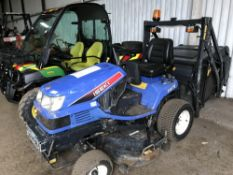 Iseki SXG19 tractor mower c/w collector, yr2007 Reg: DX07KRK WHEN TESTED WAS SEEN TO DRIVE AND